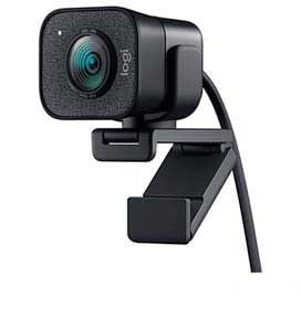 Câmera Webcam Full HD StreamCam Plus Preta - Logitech - 960-001280