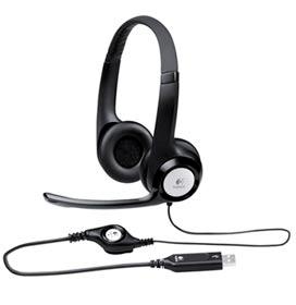 Fone de Ouvido Logitech Headset Preto - 981000014