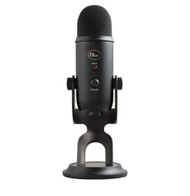 Microfone Blue Microphones Condensador USB Blue Yeti Preto - 988-000100