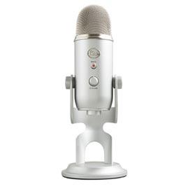 Microfone Blue Microphones Condensador USB Blue Yeti Prata - 988-000103