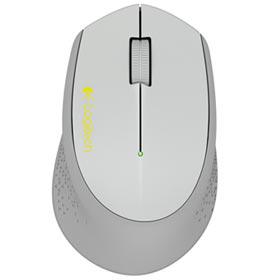 Mouse Wireless Logitech M280 para Destros e com Sensor Óptico Cinza e Amarelo - 910-004285
