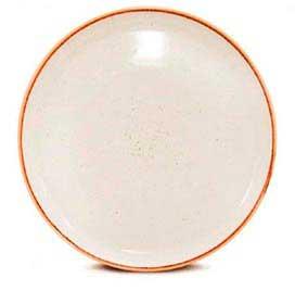 Prato Coupé Raso Corona Artisan com 01 Peça em Porcelana Branco - YOI Brasil