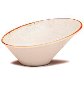 Bowl Inclinado Corona Artisan em Porcelana 790 ml Blanc - Yoi