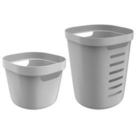 Conjunto Cesto para Roupas Cube Flex com 02 Peças Chumbo - OU