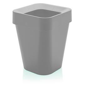 Cesto de Lixo Izzy com Aro em Polipropileno com 10 Litros de Capacidade Chumbo - OU