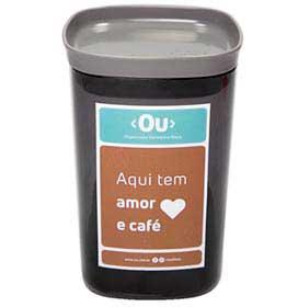 Pote Hermetico My Coffee de 1 Litro de Capacidade em Poliestireno Chumbo - OU