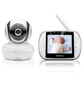 Babá Eletrônica Motorola MBP36S Tela de 3,5 Monitoramento Temperatura Ambiente