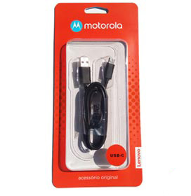 Cabo de Dados USB-C Preto - Motorola - MO-SKN6473AI