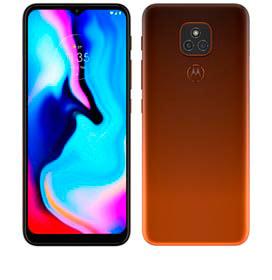 Smartphone Moto E7 Plus Bronze Âmbar, com Tela de 6,5, 4G, 64GB e Câmera de 48MP* + 2MP - XT2081-1