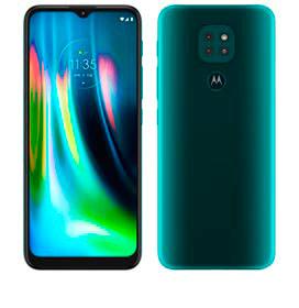 Smartphone Moto G9 Play Verde Turquesa, com Tela de 6,5, 4G, 64GB e Câmera de 48MP + 2MP + 2MP - XT2083-1