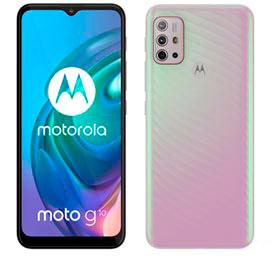 Smartphone Moto G10 Branco Floral, com Tela de 6,5, 4G, 64GB e Câmera Quádrupla de 48 MP+8 MP+2 MP+2 MP - XT2127-1