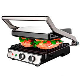 Grill Elétrico Multiuso 2 em 1 Oster com Capacidade para 06 Hambúrgueres - OGRL660