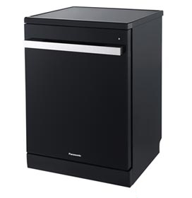 Lava-Louças Panasonic Preta com 15 Serviços, 08 Programas de Lavagem e Painel Digital Easy Touch - NP-6M1MBKBRP