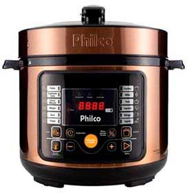 Panela de Pressão Multifuncional Digital Philco Gold com 5 Litros e Acabamento Aço Inox - PPP05G
