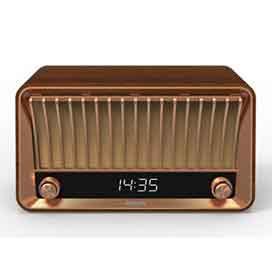 Caixa de Som e Rádio Bluetooth Philips Vintage com Potência de 20W - TAVS700/10