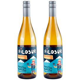 Kit com 02 Unidades de Vinho Branco Filosur Chardonnay 2020 com 750 ml