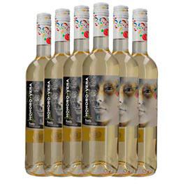 Kit com 06 Unidades de Vinho Branco Honoro Vera Blanco Verdejo 2019 com 750 ml