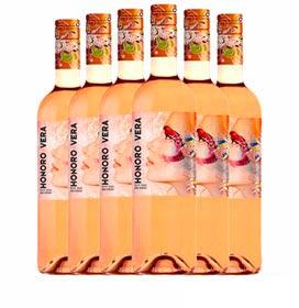 Kit com 06 Unidades de Vinho Rose Bodegas Juan Gil Honoro Vera 2019 com 750 ml