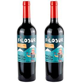 Kit com 02 Unidades de Vinho Tinto Filosur Cabernet Sauvignon 2020 com 750 ml
