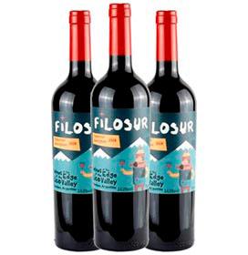 Kit com 03 Unidades de Vinho Tinto Filosur Cabernet Sauvignon 2020 com 750 ml