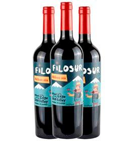 Kit com 03 Unidades de Vinho Tinto Filosur Malbec 2020 com 750 ml