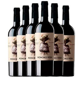Kit com 06 Unidades de Vinho Tinto Honoro Vera Organico Monastrell 2019 com 750ml