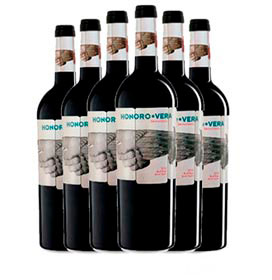 Kit com 06 Unidades de Vinho Tinto Honoro Vera Monastrell 2018 com 750 ml