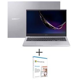 Notebook Samsung, Intel Core i7 10510U, 16GB, 1TB + 128GB SSD, 15,6, Prata -NP550XCJ-XS2BR + Microsoft 365 Personal