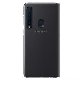 Capa Protetora Flip Wallet para Galaxy A9 2018 em Polímero e Policarbonato Preta - Samsung - EF-WA920PBEGBR