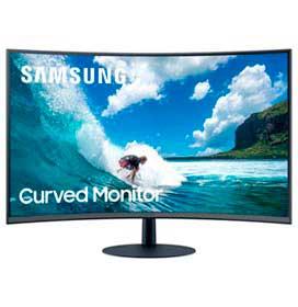 Monitor Curvo Samsung 32 FHD, com speaker embutido, HDMI, Display Port, VGA, 75Hz,FreeSync, Preto, Série CT550