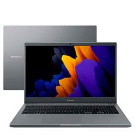 Notebook Samsung Intel Celeron 6305, 4GB, 256GB SSD, Tela de 15,6, Cinza Chumbo - NP550XDA-KO3BR