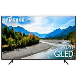 Samsung Smart TV QLED 4K Q60T 50, Pontos Quânticos, Borda Infinita, Alexa built in, Modo Ambiente Foto, Controle Único