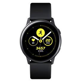 Galaxy Watch Active Samsung Preto com 39,5 mm, Pulseira de Silicone, Bluetooth, NFC e 4GB - SM-R500NZKPZTO