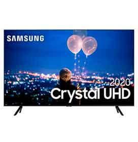 Samsung Smart TV Crystal UHD TU8000 4K 50, Borda Infinita, Alexa built in, Controle Único, Visual Livre de Cabos