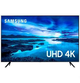 Samsung Smart TV UHD 4K 55 com Processador Crystal 4K, Controle Único, Alexa Built in e Wi-Fi - UN55AU7700GXZD