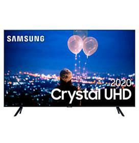 Samsung Smart TV Crystal UHD TU8000 4K 55, Borda Infinita, Alexa built in, Controle Único, Visual Livre de Cabos