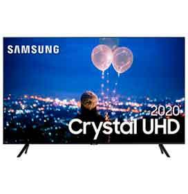 Smart TV Samsung Crystal UHD TU8000 4K 82, Borda Infinita, Visual Livre de Cabos e Wi-Fi - UN82TU8000GXZD