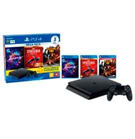 PlayStation® 4 Hits V17 com 1 Controle DualShock®4, 03 Jogos e Voucher de assinatura de 03 Meses do PlayStation®Plus