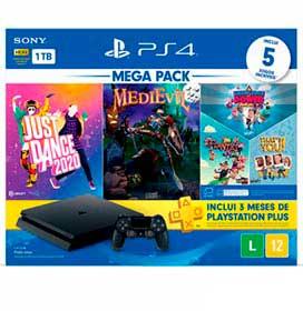 Console PlayStation 4 HITS 11 1TB com Controle DualShock 4 + 2 Jogos + 3 Jogos PlayLInk
