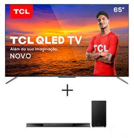 Smart TV TCL QLED Ultra HD 4K 65 Android TV e Wi-Fi- QL65C715 + Soundbar Ray Danz TCL com 3.1 Canais, 540W - TS9030