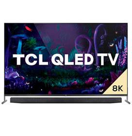 Smart TV TCL 8K QLED 75 com Dolby Vision, Google Assistant e Wi-Fi dual band e Bluetooth integrados - QL75X915