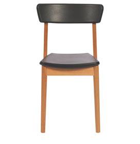Cadeira Kyoto com Encosto e Assento Preto - Tramontina