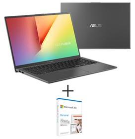 Notebook Asus VivoBook 15, Intel Core I7-10510U, 8GB, 1TB + 256GB SSD, 15,6, X512FJ-EJ571T + Microsoft 365 Personal
