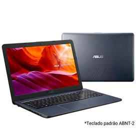 Notebook Asus VivoBook, Intel Core i3 7020U, 4GB, 256GB, Tela 15,60, HD graphics 620, Cinza Escuro - X543UA-DM3459T