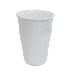 Copo Plastic em Cerâmica 240ml Branco - Mondoceram Gourmet