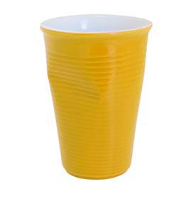 Copo Plastic em Cerâmica 240ml Amarelo - Mondoceram Gourmet