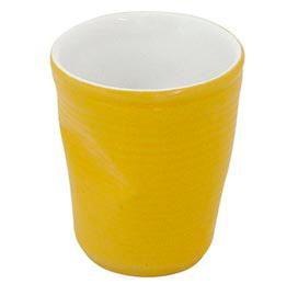 Copo Plastic em Cerâmica 70ml Amarelo - Mondoceram Gourmet