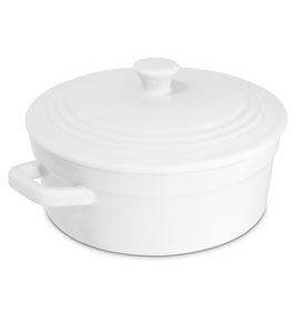 Caçarola Mini em Cerâmica com 14,5 cm Branca - Mondoceram Gourmet