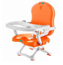 Cadeira de Alimentação Laranja e Branco - Bebeliê