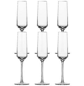 Conjunto de Taças Champagne Pure em Cristal Alemão de Titânio 215 ml com 06 Peças - Schott Zwiesel